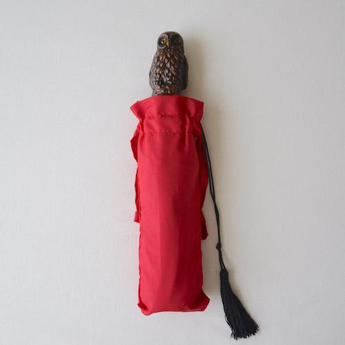 ふくろう 傘 赤
