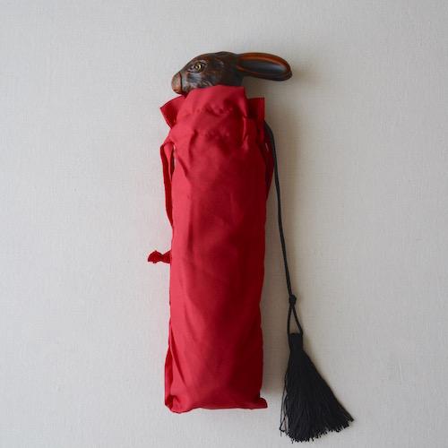うさぎ 傘 赤