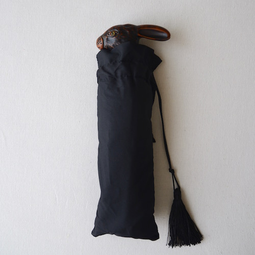 うさぎ 傘 黒