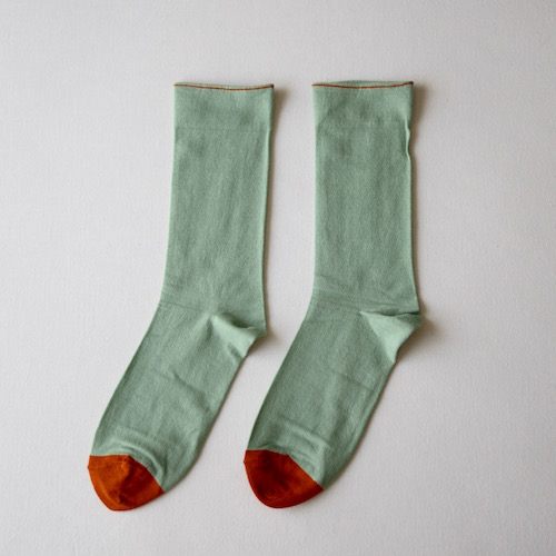 socks Plain Old Tender Green