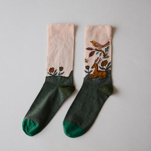 socks Rosebud Stag 靴下