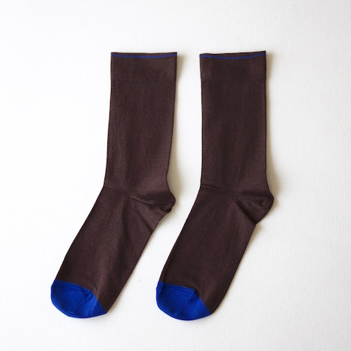 socks Plain Dark Brown