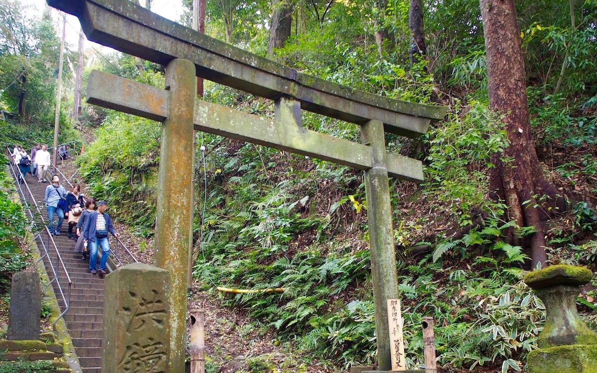 円覚寺-紅葉-階段