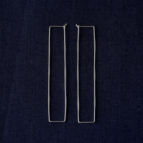Rectangle Hoop Lピアス ジュエリー シルバー ハンドクラフト 手仕事 通販 店舗