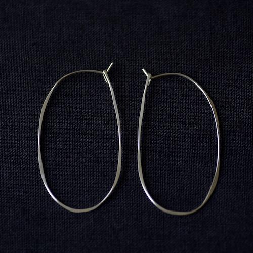 Oval Hoop L ピアス ジュエリー シルバー ハンドクラフト 手仕事 通販 店舗