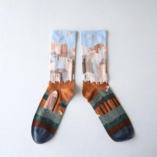 socks Cinnamon Polka Dot