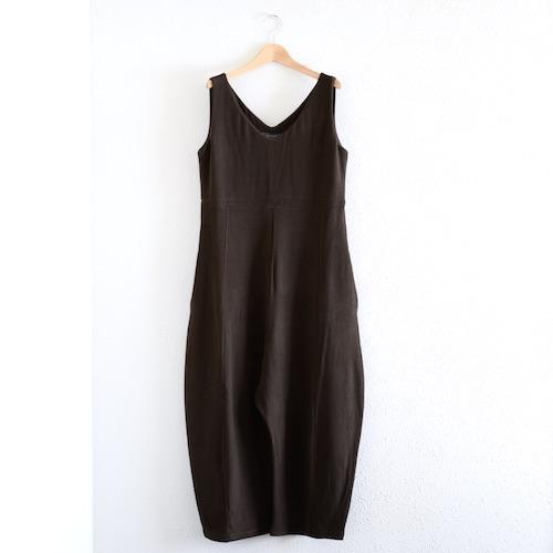 イタリアのファッションブランドNEIRAMIネイラミのソフトコットンワイドサロペット Choco