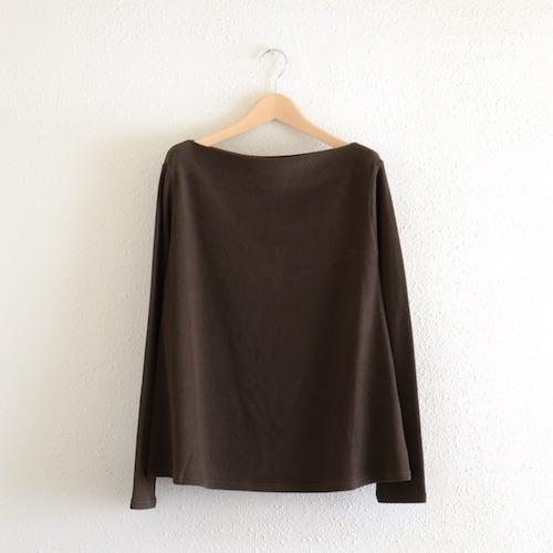 イタリアのファッションブランドNEIRAMIネイラミのソフトコットンフレアシャツ Choco