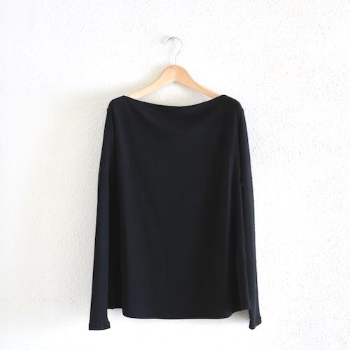 イタリアのファッションブランドNEIRAMIネイラミのソフトコットンフレアシャツ Black