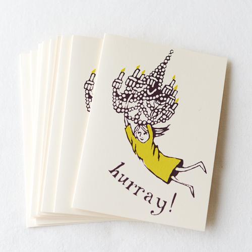 グリーティングカード-多目的カード-お祝い-Chandelia Girl