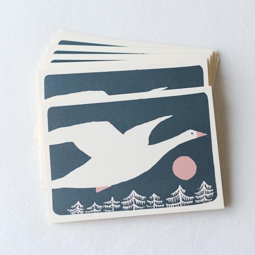 多目的カード-グリーティングカード-Snow Goose